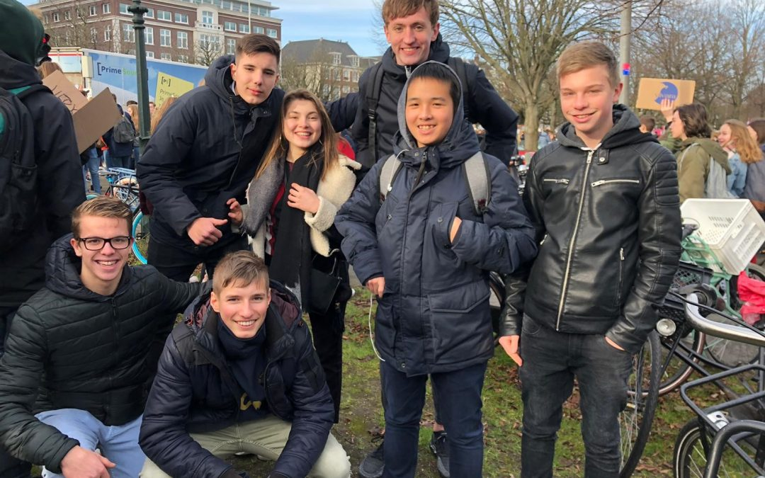 Leerlingen naar het Malieveld voor het klimaat.
