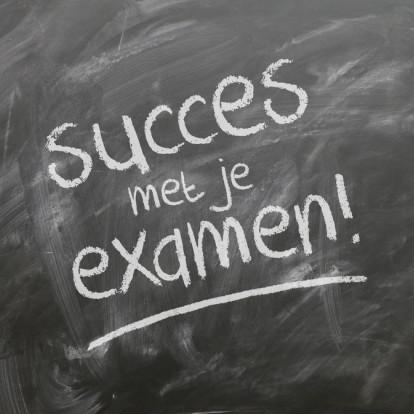 Deze week beginnen de examens. Zet 'm op en succes!