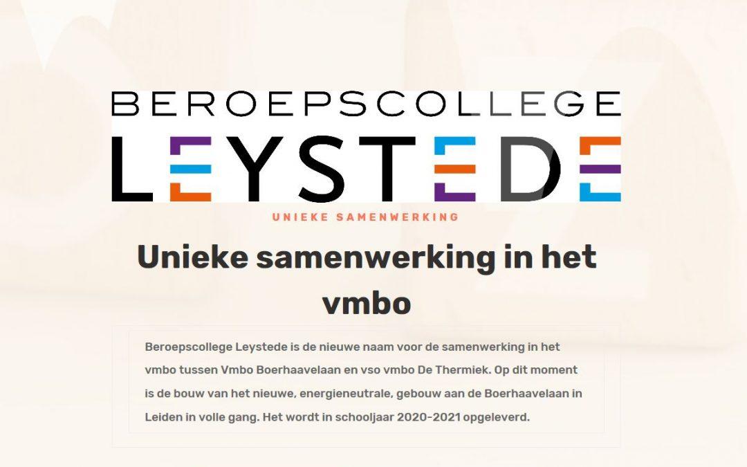 Website Beroepscollege Leystede online